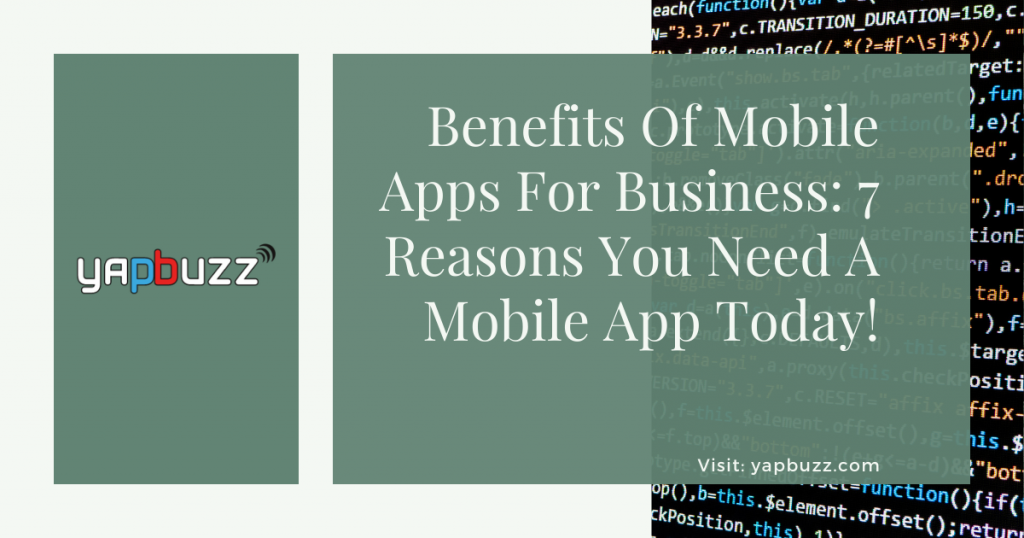 Benefits Of Mobile Apps For Business 7 Reasons You Need